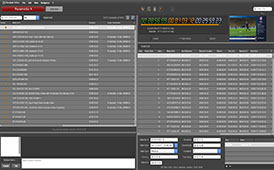 Screenshot of the rundown editor